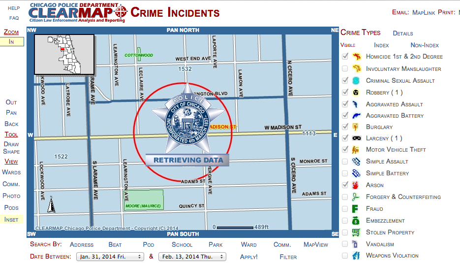 The Chicago Police Department's ClearPath website