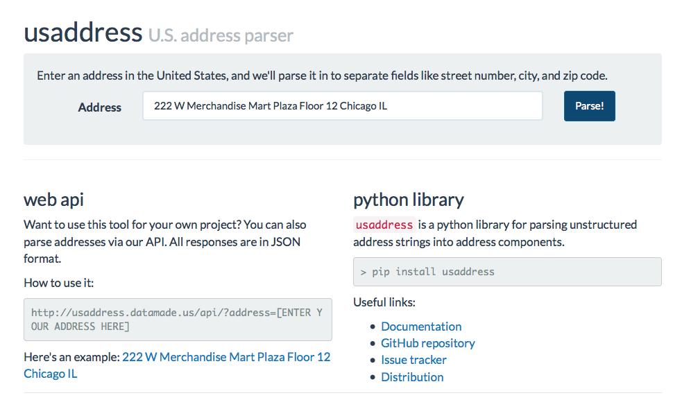 Parsing addresses with usaddress - DataMade