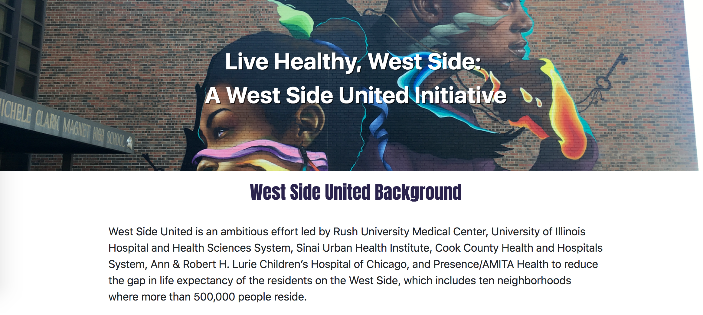 A screenshot from livehealthwestside.com